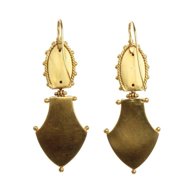 Victorian Era Etruscan Revival Earrings 3