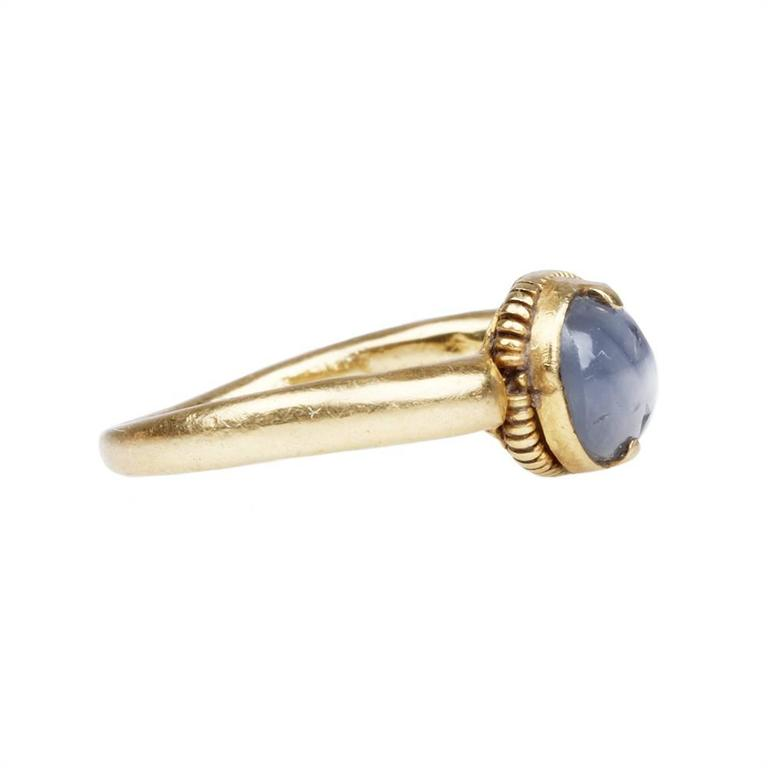 Ancient Star Sapphire Gold Ring 2