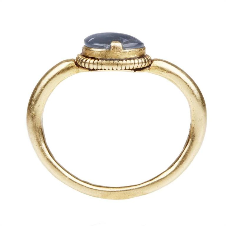 Ancient Star Sapphire Gold Ring 5