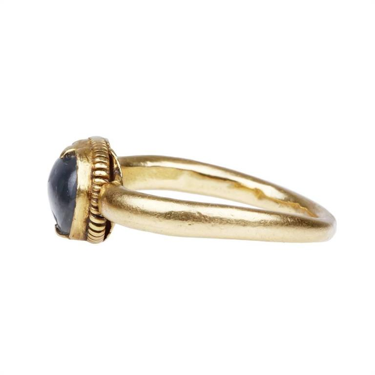 Ancient Star Sapphire Gold Ring 4