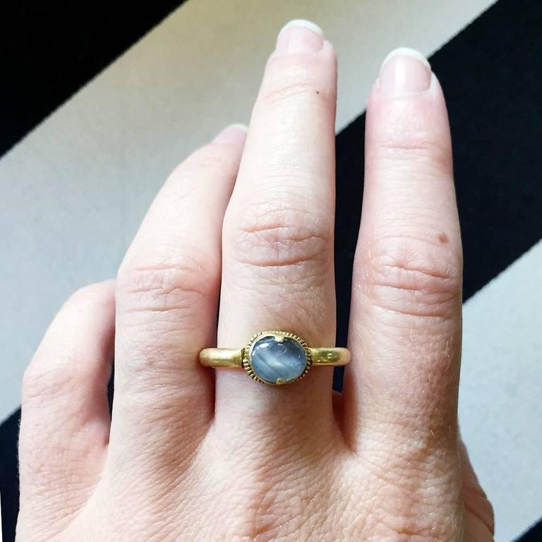 Ancient Star Sapphire Gold Ring 6