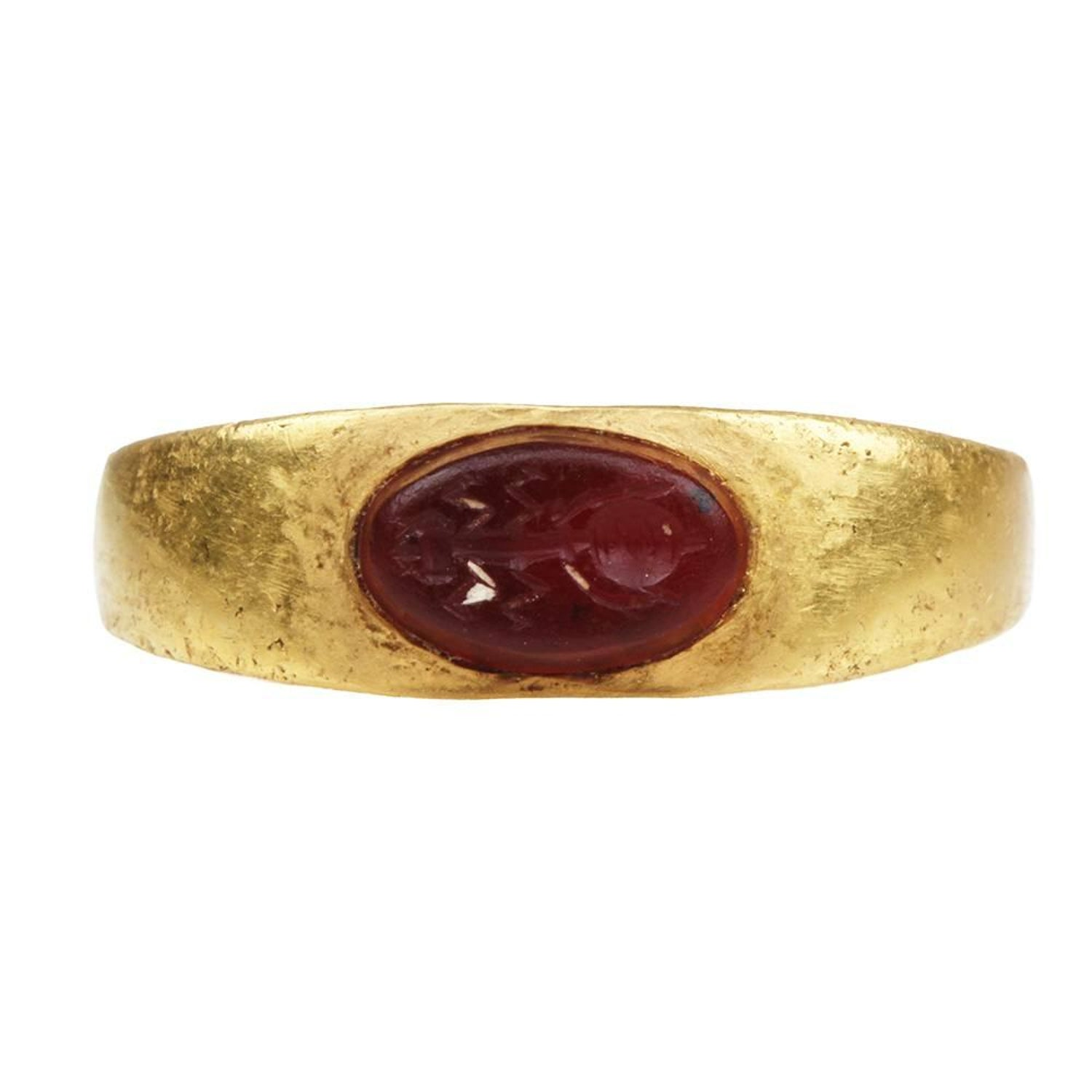 Ancient Roman Antique Intaglio Ring Cartier Diamond