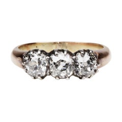 19th Century Old Mine Cut Diamond Engagement Ring