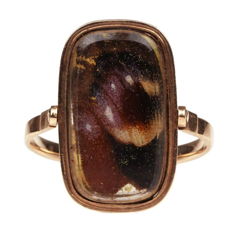 late 18th century butterfly swivel ring at 1stdibs
