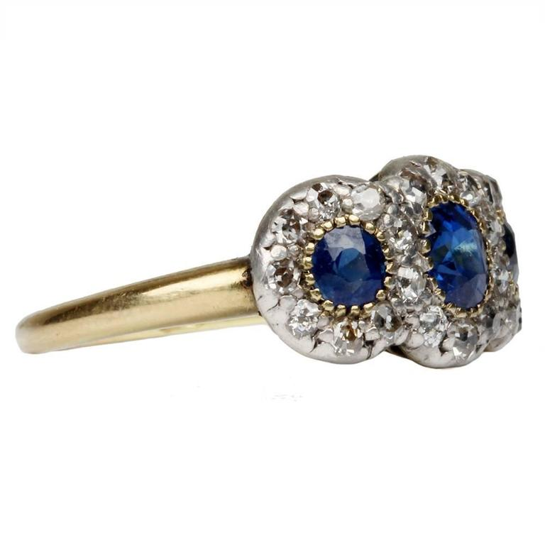 19th Century Sapphire Diamond Ring 4