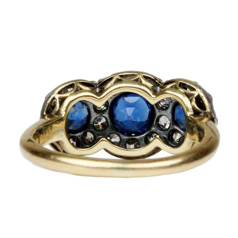 19th Century Sapphire Diamond Ring 3