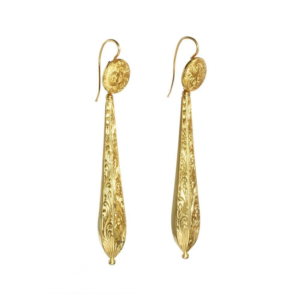 georgian gold torpedo earrings at 1stdibs