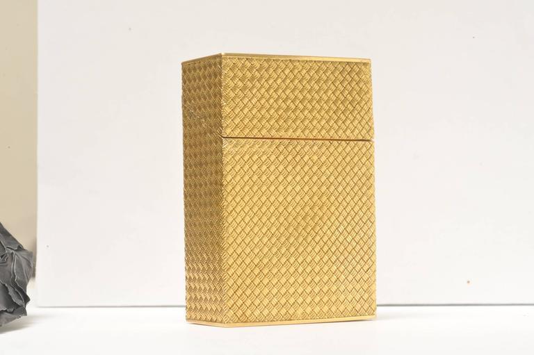 Solid 18K Gold Cigarette Box 2