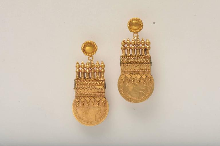 The Fine Granulation And Etruscan Design Detail Work On These Earrings Is Truly Remarkable 22k