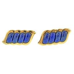 Boucheron Lapis Gold Cufflinks