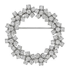 Cartier Diamond Foliate Circle Pin