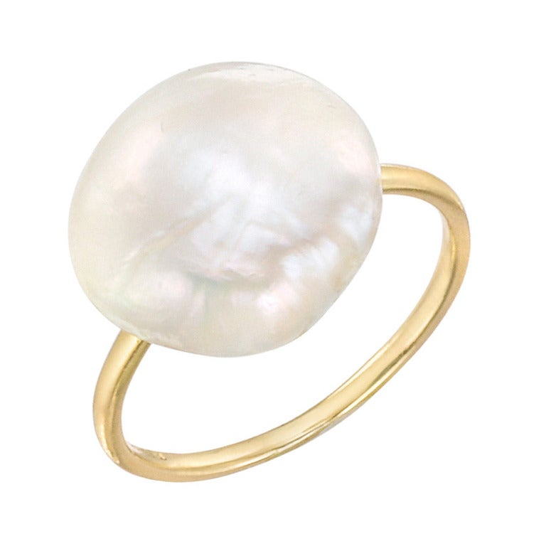 Tiffany & Co. Natural Freshwater Pearl Ring For Sale