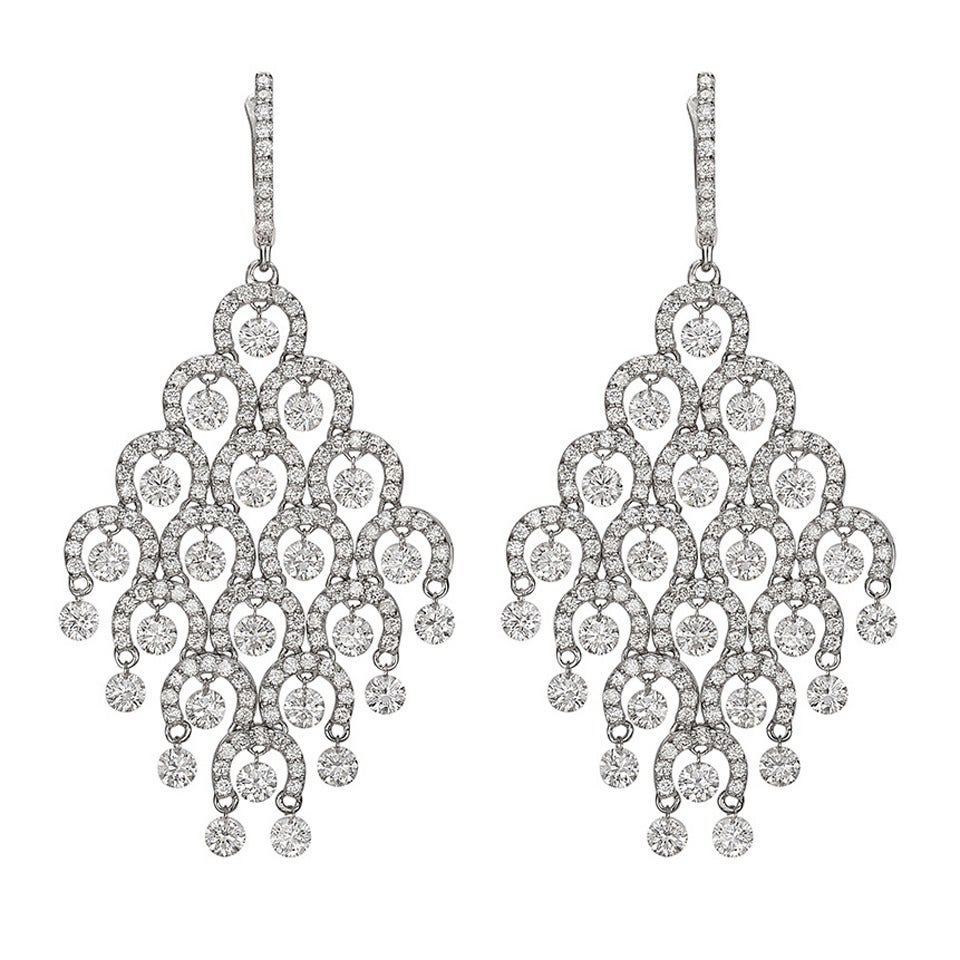 Diamond Gold ​Chandelier Earrings