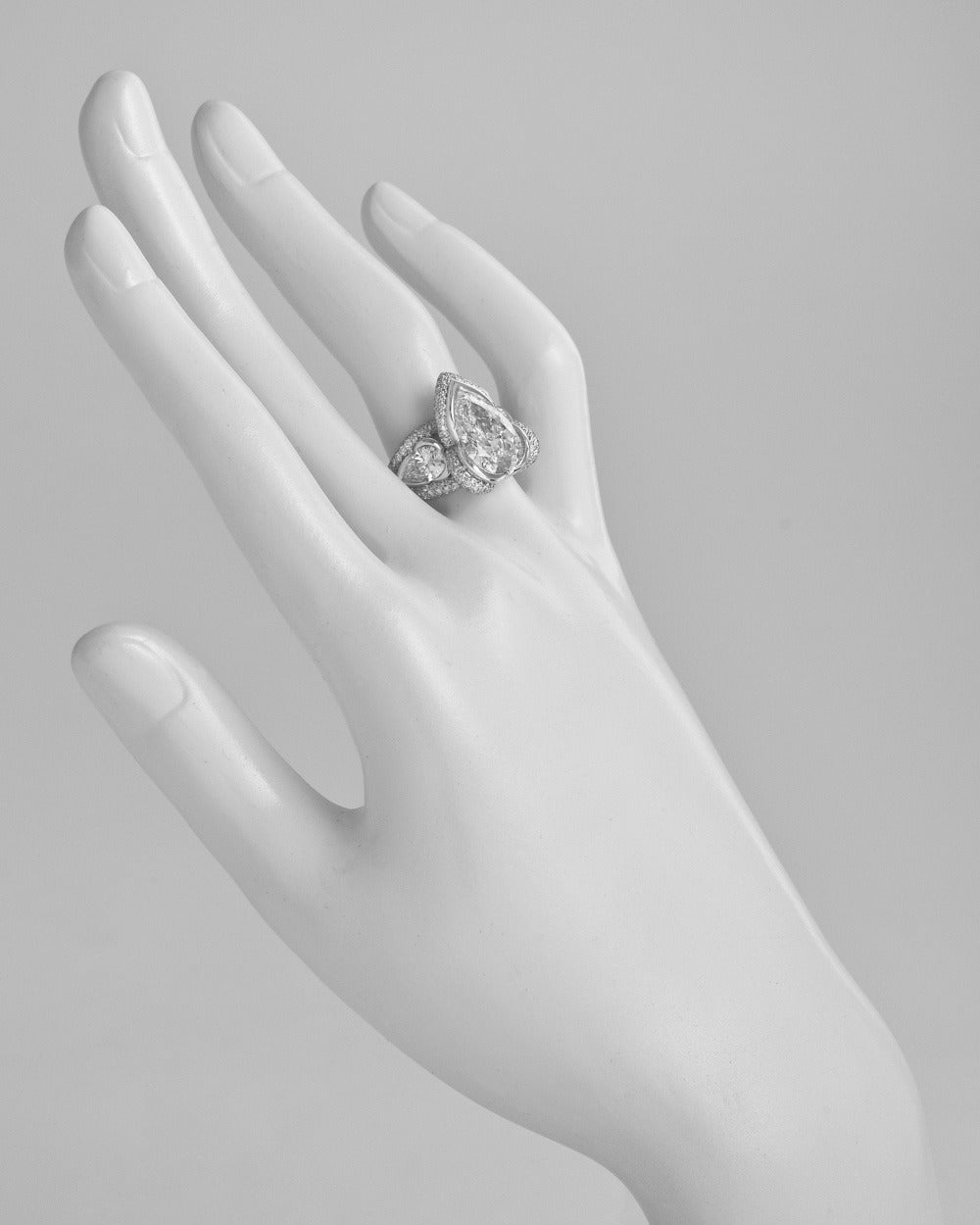 Mauboussin 3 05 Carat Pear Shaped Diamond Ring at 1stdibs