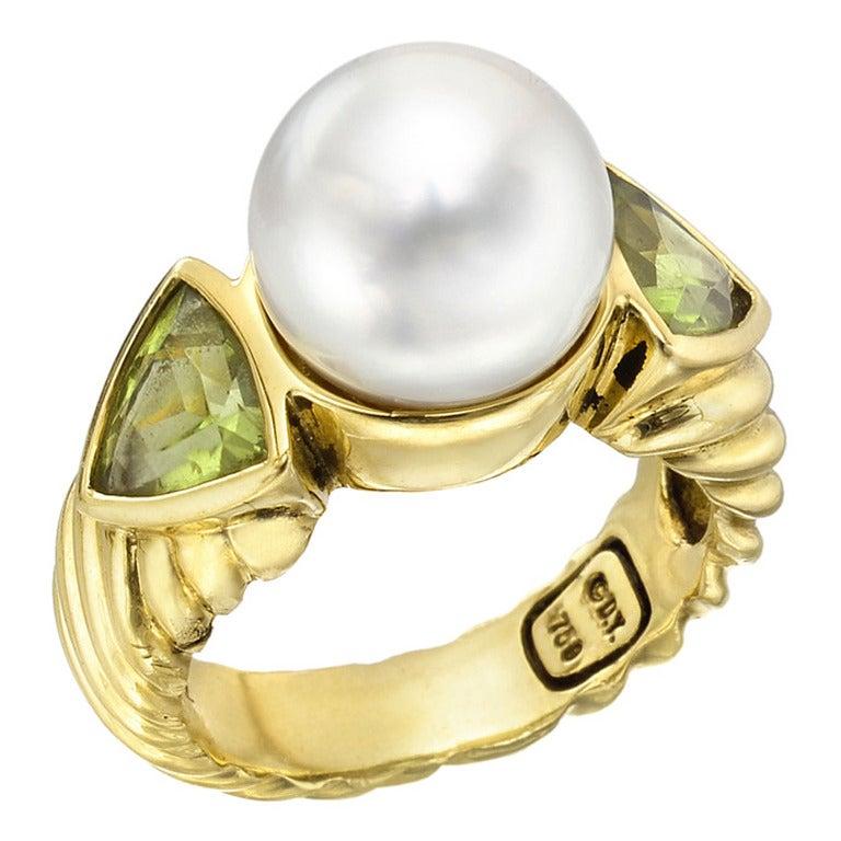 David Yurman Double Pearl Ring