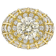 Round Brilliant Diamond Bombe Cocktail Ring