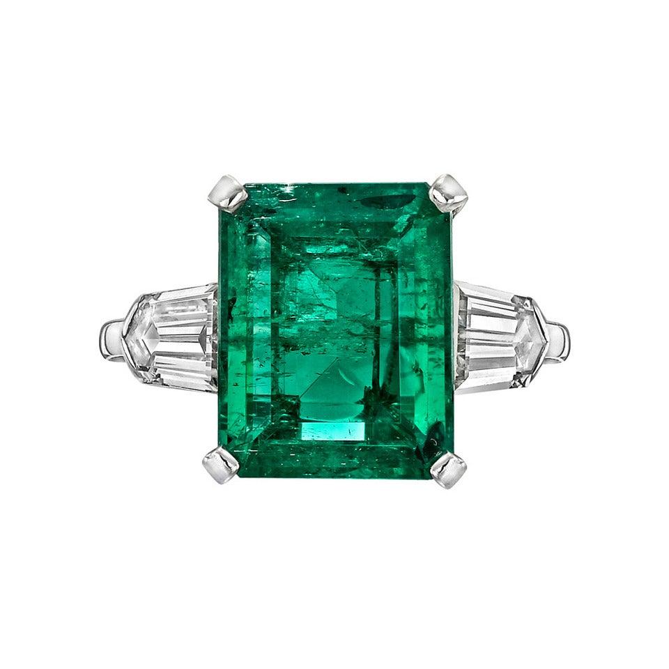 5.00 Carat Colombian Emerald Diamond Ring 1
