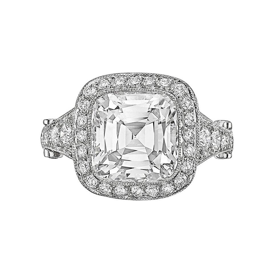 "Tiffany and Co 3 65 Carat Cushion Cut Diamond ""Legacy"" Engagement"