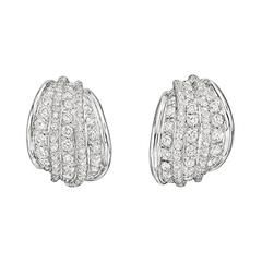 Repossi Diamond Gold Five Row Earclips