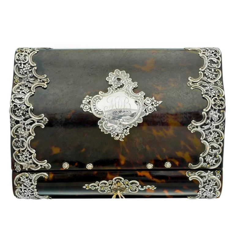 19th Century Tortoiseshell Silver Letter Box Letter Clip and Page Turner