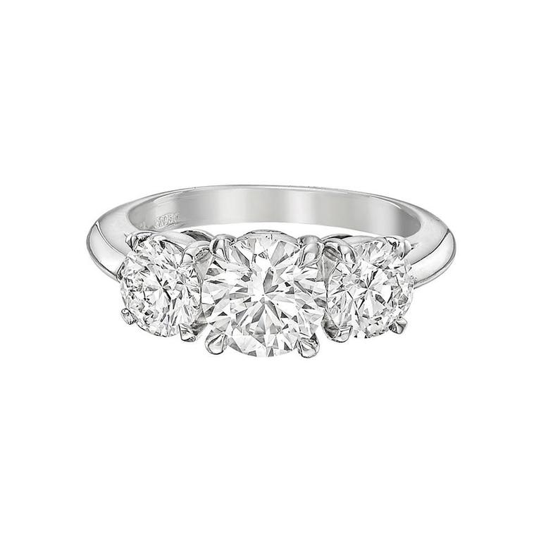 Tiffany & Co. 1.01 Carat Round Brilliant Diamond Platinum Engagement Ring For Sale