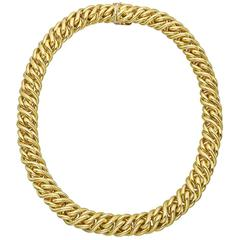 Tiffany & Co. Gold Woven Chain Link Necklace