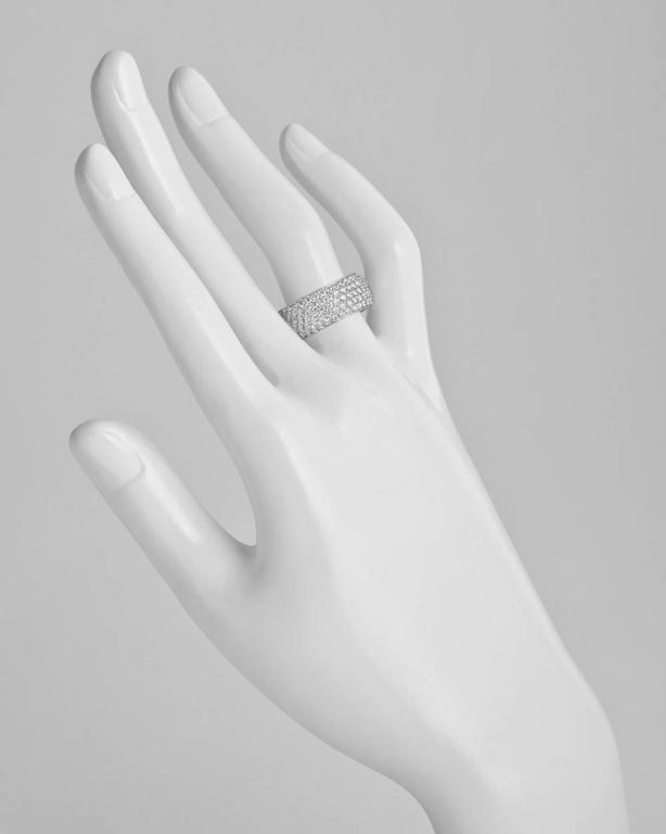 Cartier 5-Row Diamond Gold Eternity Band Ring 2