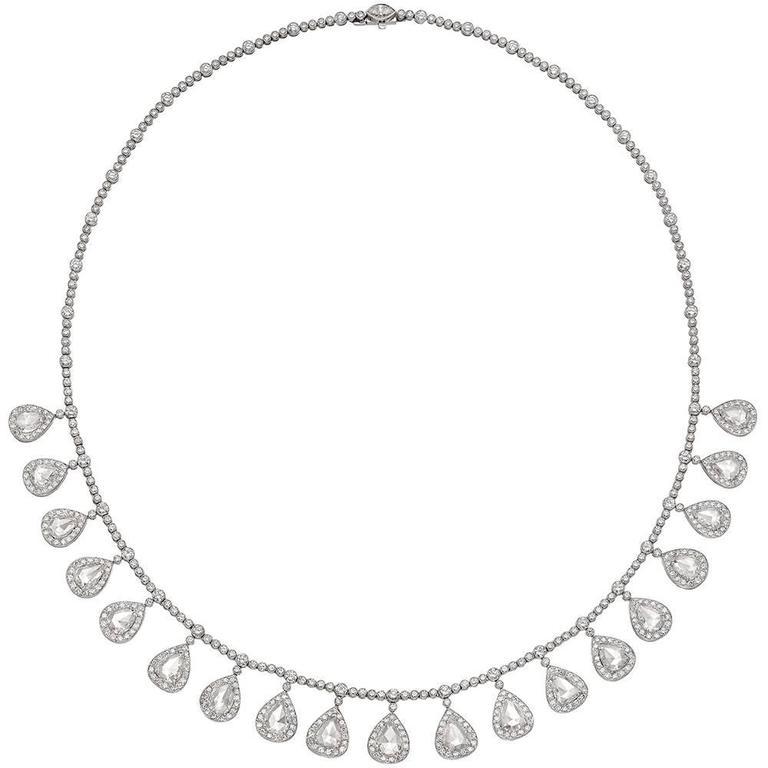 Rose-Cut Diamond Fringe Necklace (~12 ct tw) 1