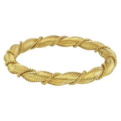 Van Cleef & Arpels ​Yellow Gold Twist Bangle Bracelet
