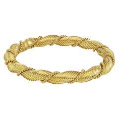Van Cleef & Arpels Yellow Gold Twist Bangle Bracelet