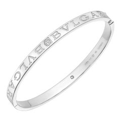 "Bulgari White Gold Diamond ""Bvlgari-Bvlgari"" Bangle"