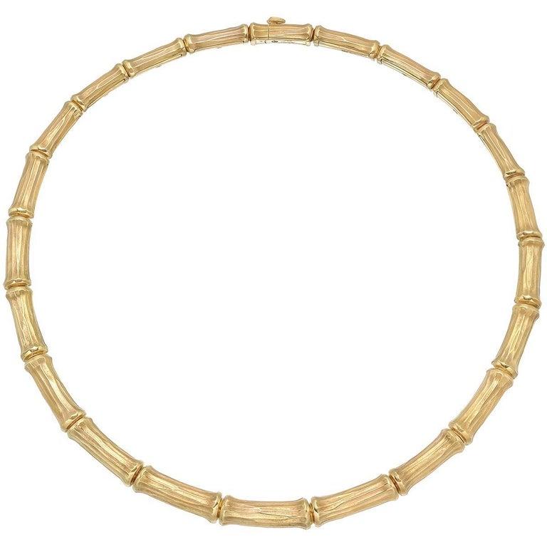 "Cartier Yellow Gold ""Bamboo"" Collar Necklace"