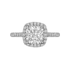 Betteridge 1.81 Carat Cushion Brilliant-Cut Diamond Engagement Ring