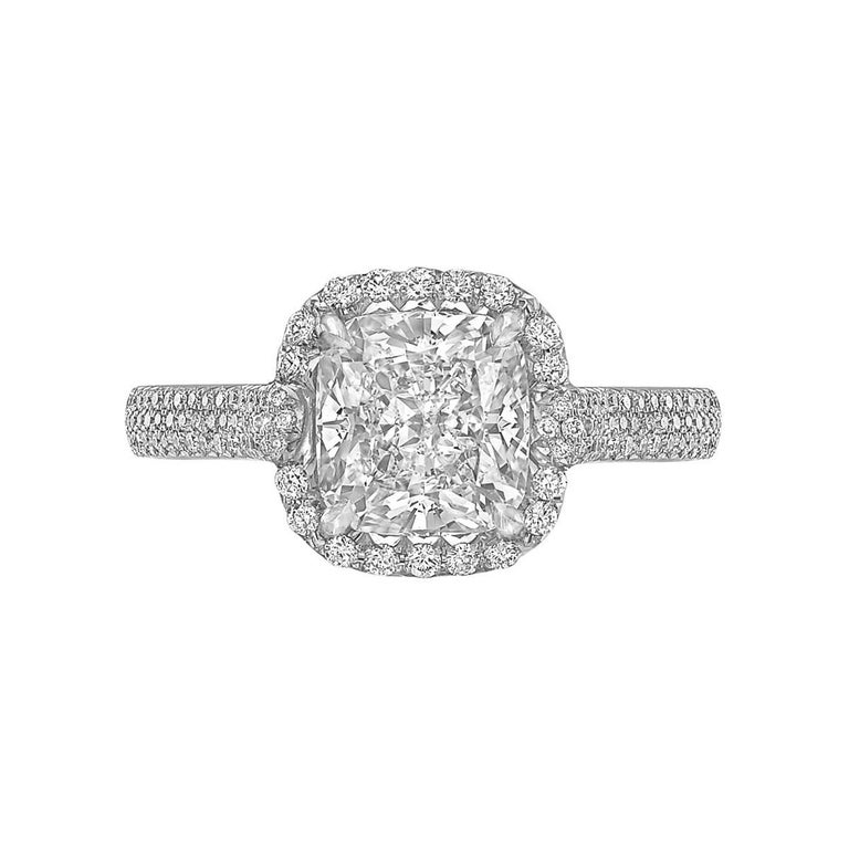 Betteridge 2 09 Carat Cushion Cut Diamond Engagement Ring For Sale at 1stdibs