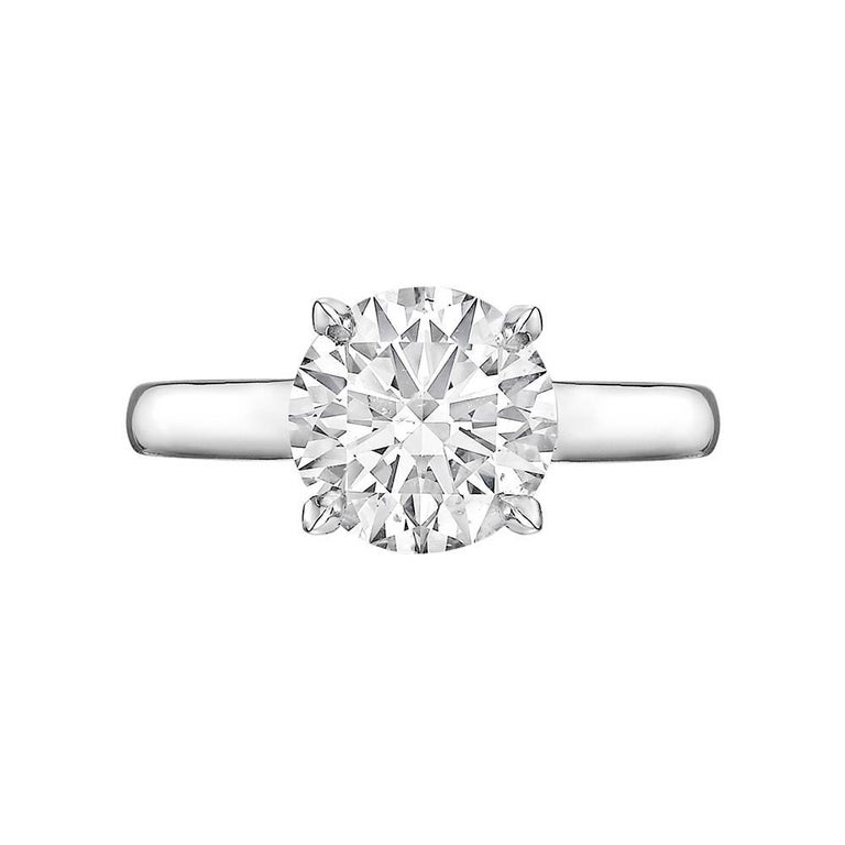 Betteridge GIA Report 2.10 Carat Round Brilliant Diamond Engagement Ring