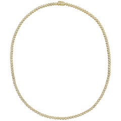 Bezel-Set Round Brilliant Diamond Line Necklace