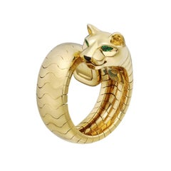 Cartier Yellow Gold Panthère Bypass Ring