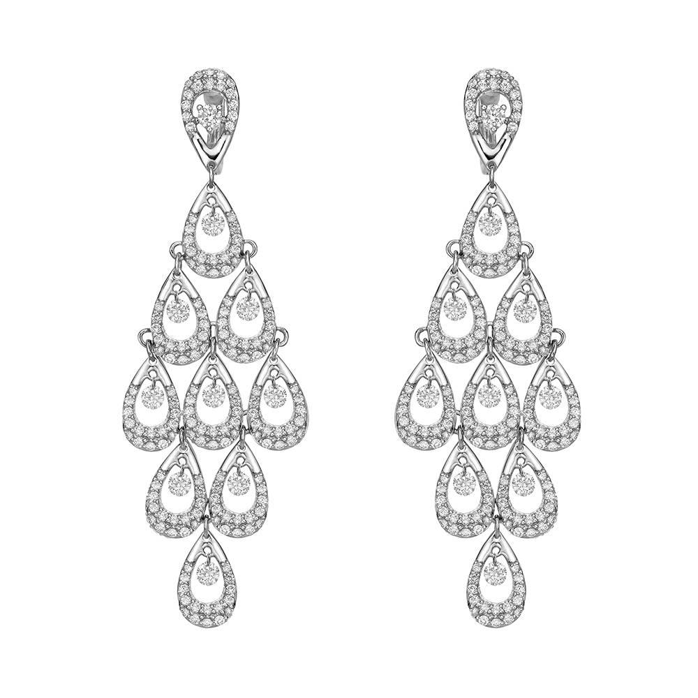 glitters long er pierced sparkly leaves diamante all diamond earrings chandelier products that