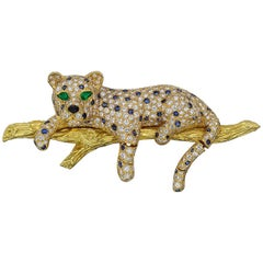 Van Cleef & Arpels Diamond 'Leopard on Branch' Brooch
