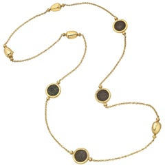 Bulgari Gold Ancient Coin Long Necklace