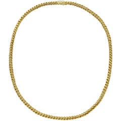 Pomellato Yellow Gold Twisted Chain Necklace