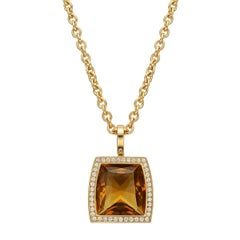"Cartier Citrine Diamond ""La Dona"" Pendant"