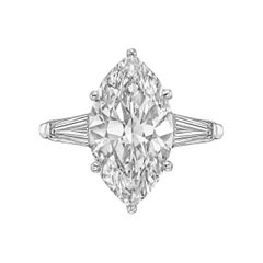 5.09 Carat Marquise-Cut Diamond Engagement Ring