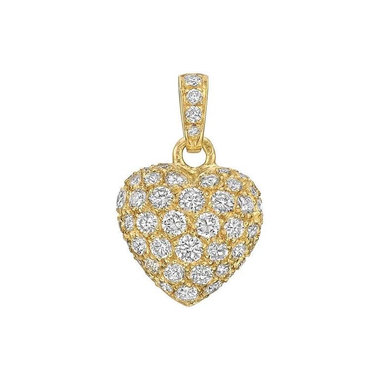 Cartier yellow gold diamond heart pendant charm for sale at 1stdibs cartier yellow gold diamond heart pendant charm 1 aloadofball Choice Image