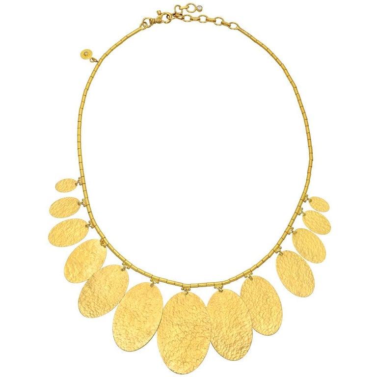 "Gurhan High Karat Yellow Gold ""Mango"" Necklace"
