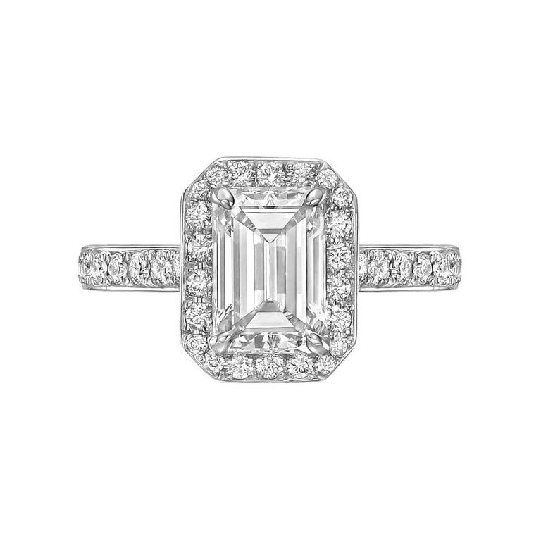 1.69 Carat Emerald-Cut Diamond Engagement Ring