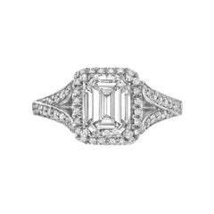 1.84 Carat Emerald-Cut Diamond Engagement Ring