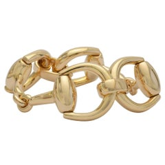 Gucci Yellow Gold Stirrup Bracelet