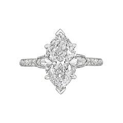 2.21 Carat Marquise Brilliant-Cut Diamond Ring
