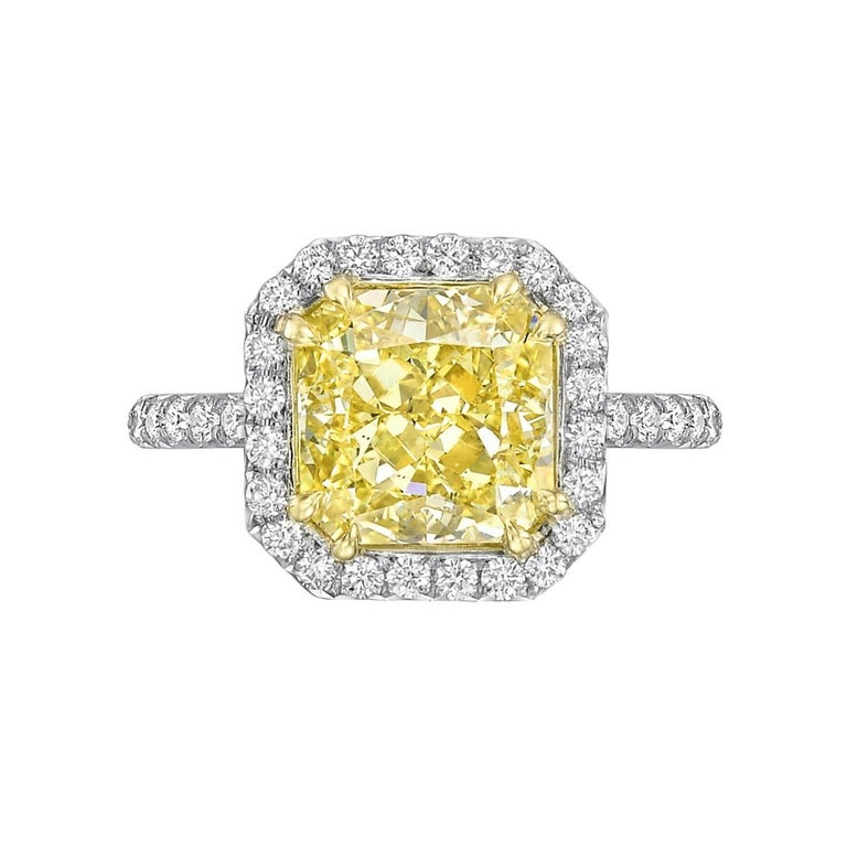 Betteridge 4.01 Carat Fancy Yellow Diamond Ring